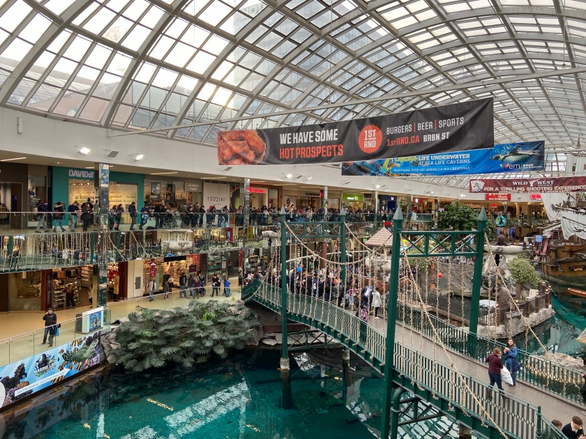 West Edmonton Mall – The Largest Mall in North America – Roaming with Wally